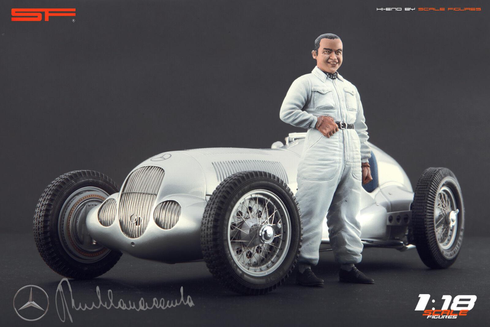 1 18 Rudolf Caracciola VERY RARE    figurine NO CARS    for diecast collectors
