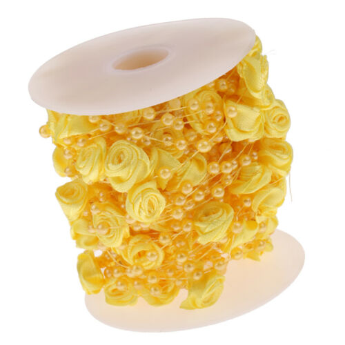 Wedding Rose Pearls String Rope Bridal Dress Sewing Trim Bouquets Cake Decor 10m