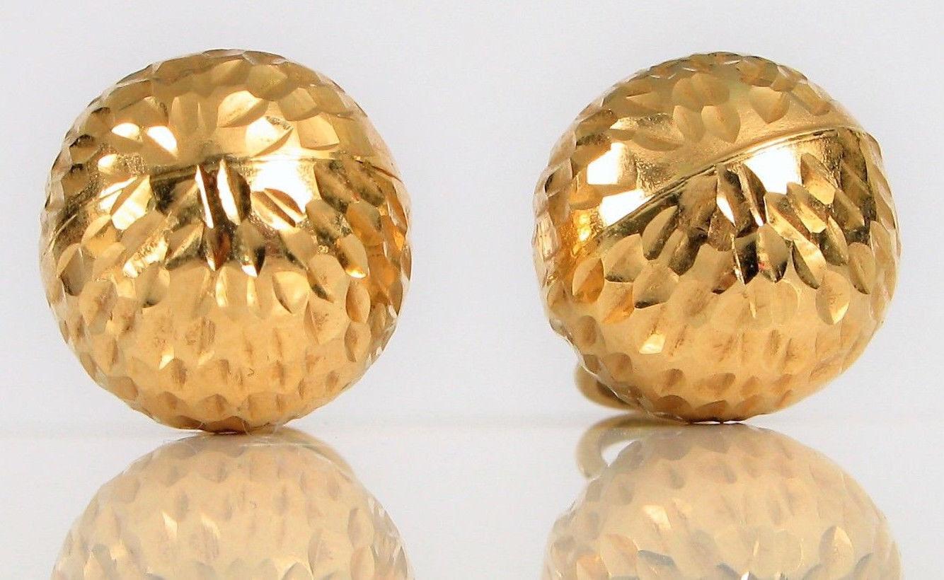 Vintage 14k oro Giallo Delicato Moda Pendente Pendente Pendente Chased 632ef1