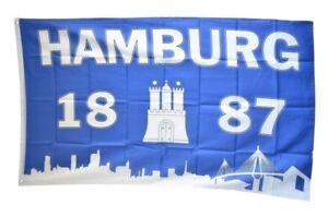 Drapeau//drapeau Hambourg 1887 silhouette Hissflagge 90 x 150 CM