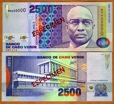 SPECIMEN Cape Verde, 2500 (2,500) Escudos, 1989, P-61s (61), UNC