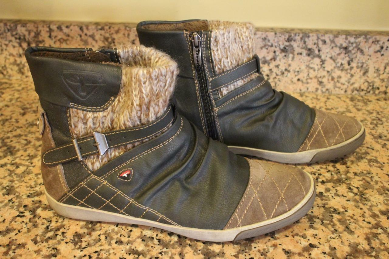 TAMARIS ACTIVE Women's Grey & Brown Ankle Boots SIZE 40 (sn100