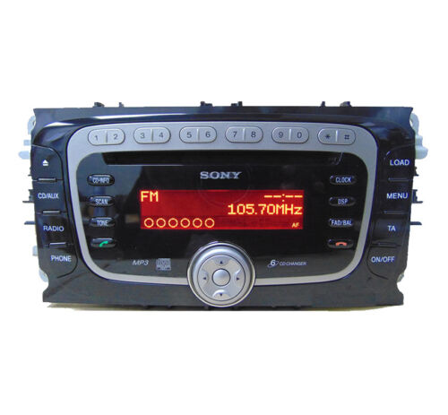 Ford Sony CD MP3 changer radio code Ford Mondeo car stereo 6 Disc CD player