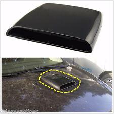 Universal Car Decorative Air Flow Intake Hood Scoop Vent Bonnet Cover Black Auto