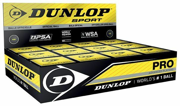 Official Dunlop Elastic Hydrocarbon Polymer Advanced Player Pro Squash Ball