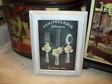 Paris kitchen wall decor chalkboard look 5x7 frame shabby French cottage chic