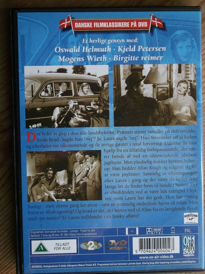 Som Sendt Fra Himlen, instruktør Johan Jacobsen, DVD