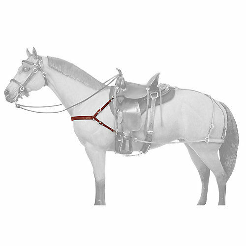 Tough-1 Leather Mule 4 Point Breast Collar