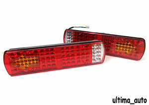 Led Rear Tail Truck Lights Fits Iveco Scania Volvo Daf Man 12v 24v Set of 2