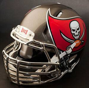 Image is loading CUSTOM-TAMPA-BAY-BUCCANEERS-Riddell-SPEED-Full-Size- e4c0c1c67
