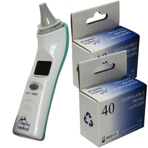 Merlin Medical Professional Digital Adults Childs Baby Digital Ear Thermometer