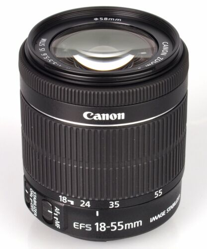 Brand New Original  Canon EF-S 18-55mm F4-5.6 IS STM Bulk Box Black ES*3