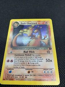 Dark-Charizard-4-82-Holo-Rare-Pokemon-Card-From-Team-Rocket-Set-MP