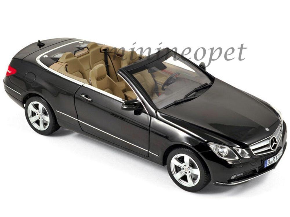 NOREV 183543 2010 Mercedes Benz E500 E Classe Cabriolet 1 18 Diecast Noir