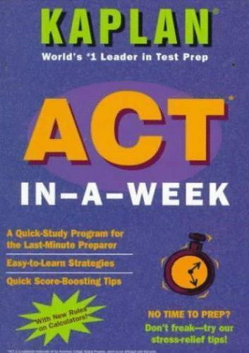 ACT In-a-Week by Adele Scheele