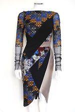 ANTONIO BERARDI  FLORAL FLOCKED LACE & SCUBA DRESS IT 40 UK 6-8