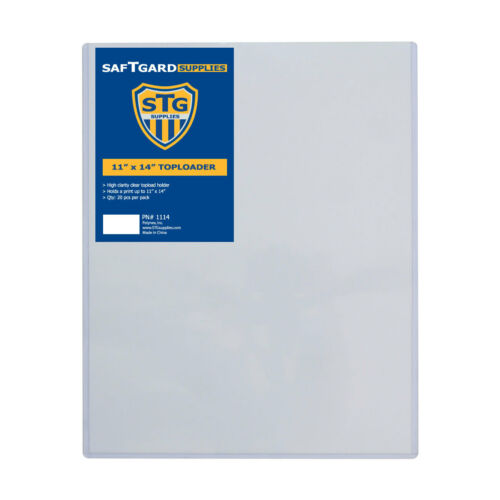 POSTER HOLDER #1114 PRINT 20 SAF-T-GARD 11x14 TOP LOADERS