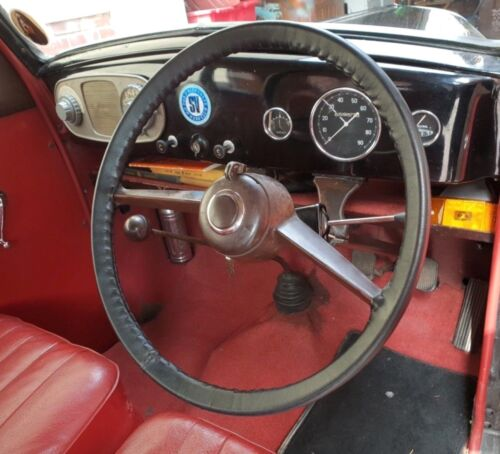 CLASSIC LEATHER STEERING WHEEL COVER GLOVE ~ FORD PREFECT E93A E493A 100E 107E