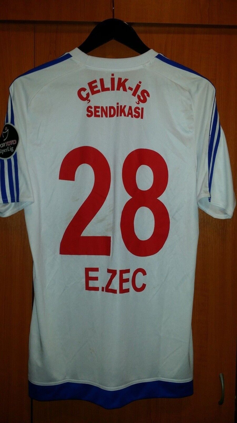Trikot Trikot Trikot Fußball Karabukspor FC Ermin Zec adidas 2017 M Weiß    Angenehmes Aussehen  7f1bff
