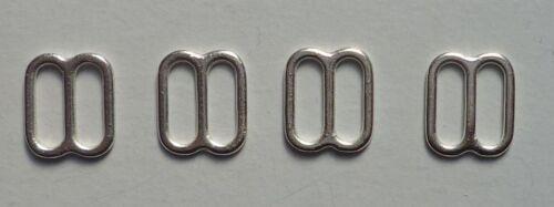 4 trozo ajustador sujetador bikini 10 mm metal color plata
