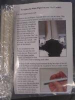 1 Pair Set Of Wiper Blades Audio Desk Vinyl Cleaner For Record Vacuum Cleaner
