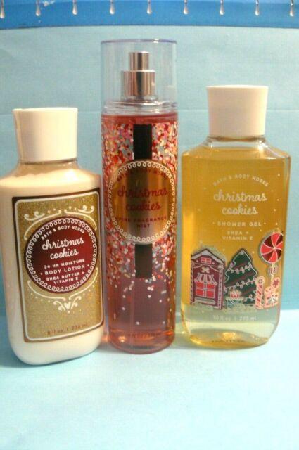 "Bath & Body Works ""CHRISTMAS COOKIES"" mist, shower gel & lotion x3   eBay"