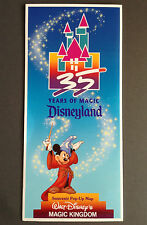 DISNEYLAND Vintage 1990 POP-UP 3-D SOUVENIR MAP M*I*P* 35 Years of Disney Magic
