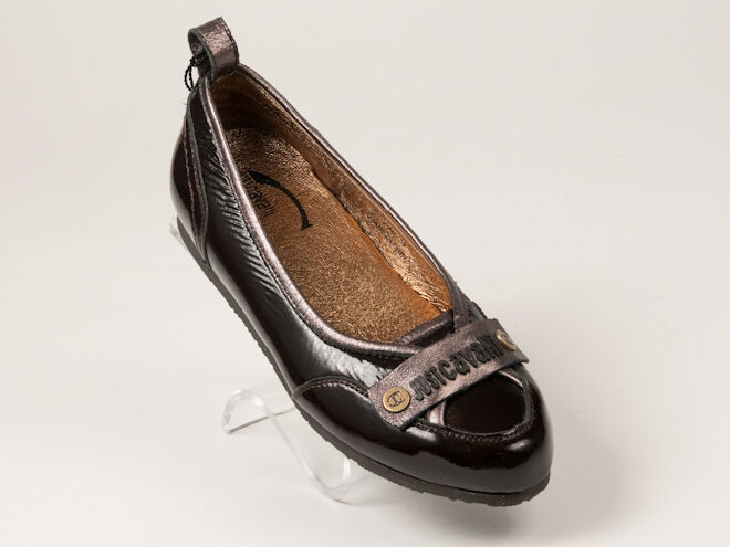 New Just Cavalli Brown Patent leather shoes Size 35 US 5