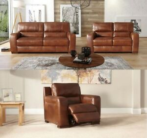 Sisi Italia Corner Sofa Collection Set Recliner Lucca Real Leather ...