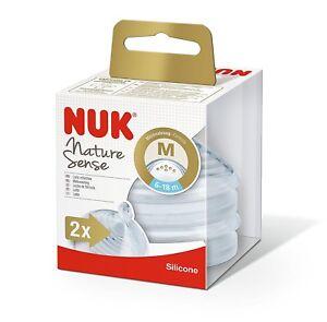 6-18 Months NUK Nature Sense 260ml Bottle with Silicone Medium Feed Hole Teat