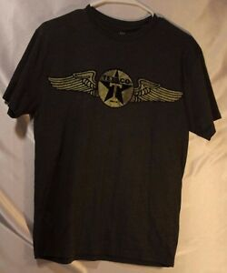 534e21df9 Texaco T Shirt Retro Raised Logo Size M grey gray youth logo   eBay