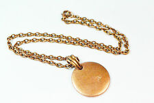 ELEGANT LADIES RUSTIC BRONZE CHAIN CHUNKY MEDALLION STYLE NECKLACE AZTEC(ZX8)
