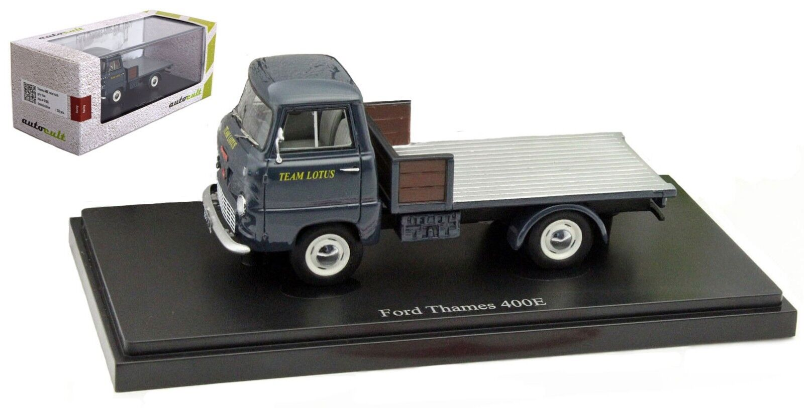Autocult Ford Thames 400E 'Team Lotus' Support Support Support Vehicle 1950s 60s - 1 43 Scale 38210d