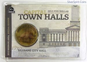 2012-TOWN-HALLS-BRISBANE-CITY-HALL-Coin-on-Card