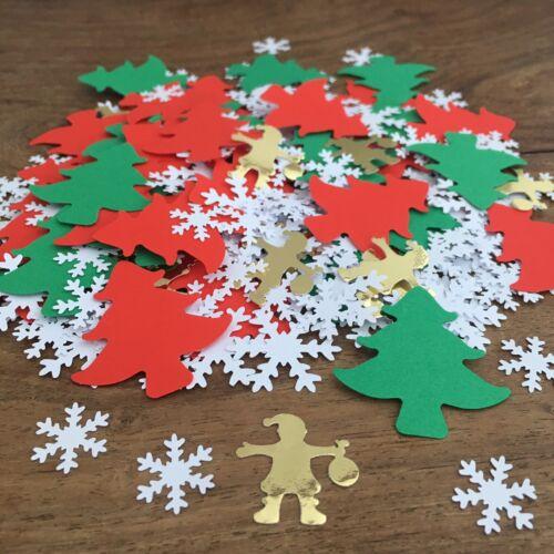 CHRISTMAS Santa Tree & Snowflake Table CONFETTISprinklesTable Decoration