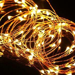 10m 100 led draht weihnachten innen au en schlauch lichterkette beleuchtung gelb ebay. Black Bedroom Furniture Sets. Home Design Ideas