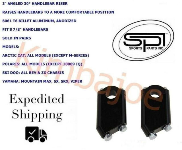 """2/"""" SM-08252 SPI Snowmobile Handlebar Flat Post Style Riser Blocks Angled 30°"""