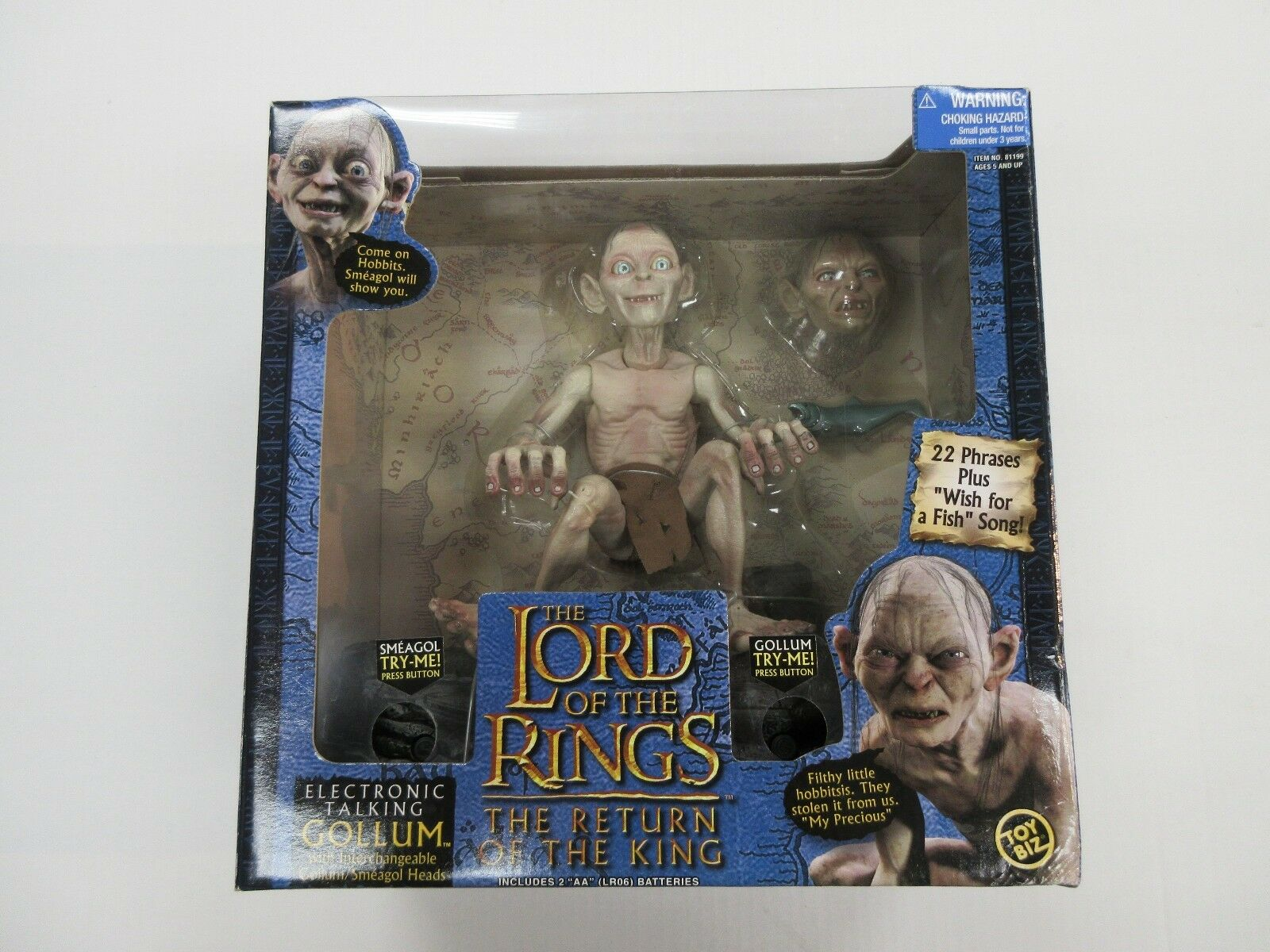 2003  giocattolo BIZ LORD OF THE RINGS LOTR ELECTRONIC TALre GOLLUM cifra SEALED  acquistare ora