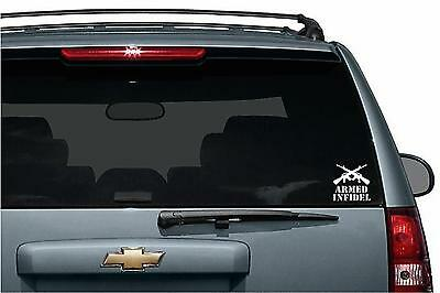 Armed Infidel cut vinyl window/bumper sticker