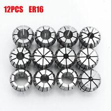 New 12pcs Er16 Spring Collet Set For Cnc Milling Lathe Tool Engraving Machine Sm