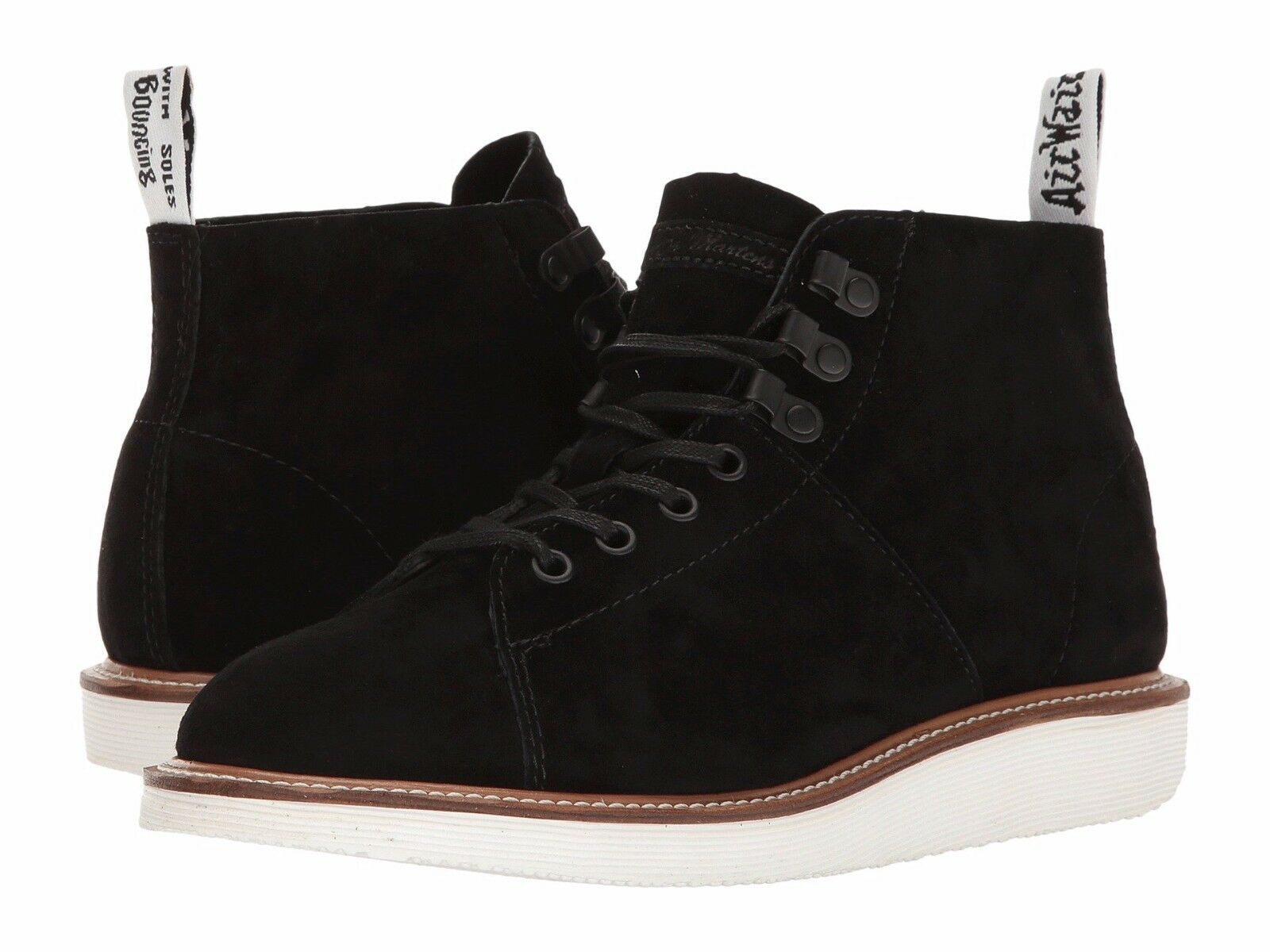 Doc Martens LESLEY LTT Black Suede Leather Bouncing Sole Chukka Boot Wms 6 NWT