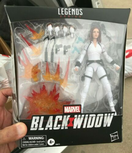 """Marvel Legends 6/"""" MCU Black Widow White Costume Deluxe Exclusive with Stand"""