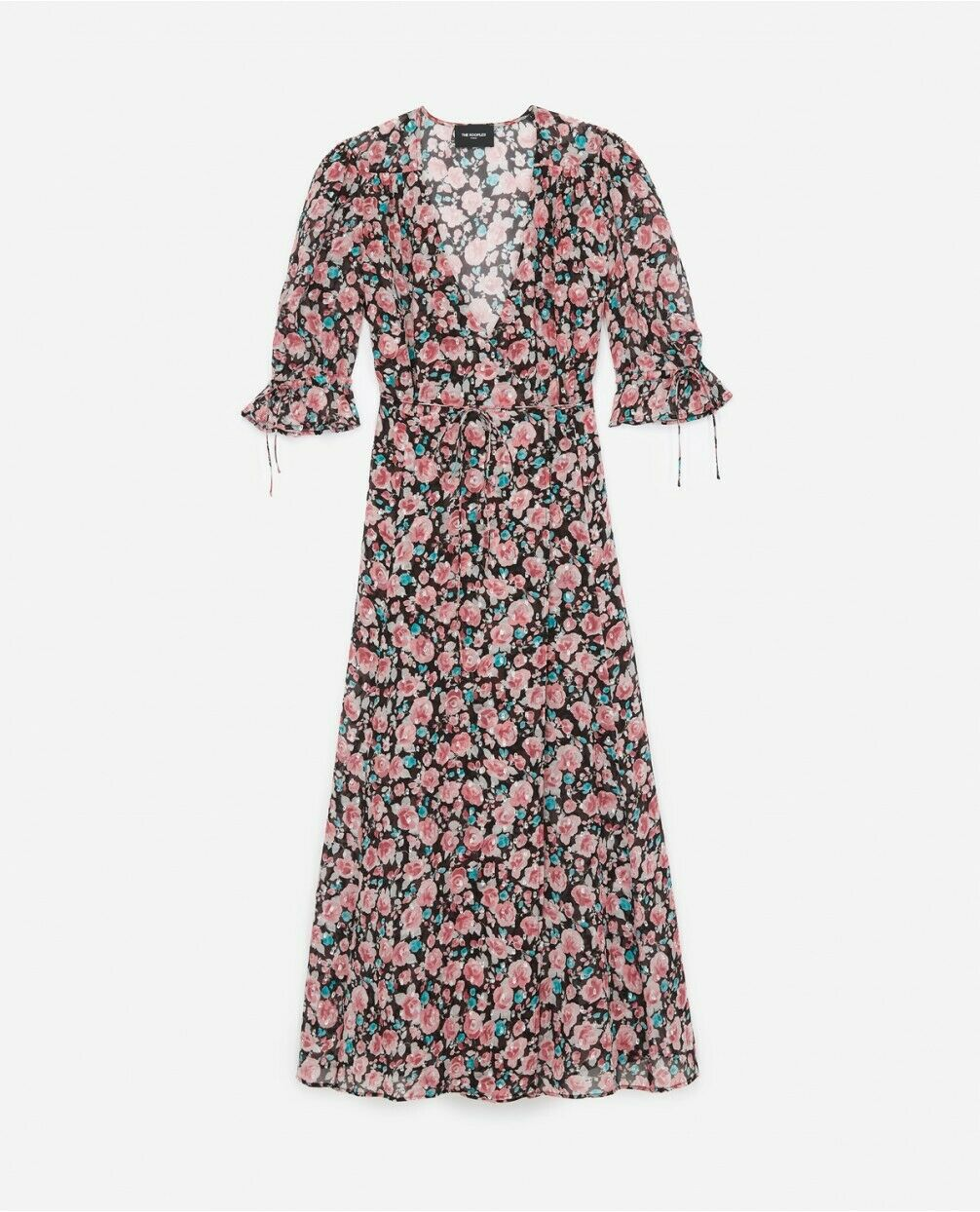 The Kooples Candy Floral Wrap Midi Dress Dress Dress Size 2 934a2b