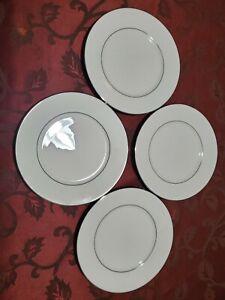 Lenox-Cosmopolitan-Collection-Set-Of-4-MAYWOOD-Platinum-Trim-Salad-Plates