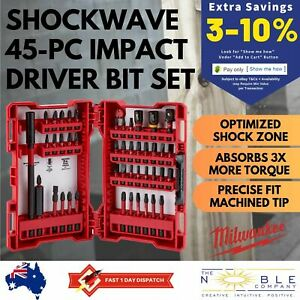 Milwaukee-45pc-Impact-Driver-Bits-Set-Cordless-Driver-Shockwave-Torx-Hex-Head