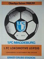 Programm 1988/89 1. FC Magdeburg - Lok Leipzig