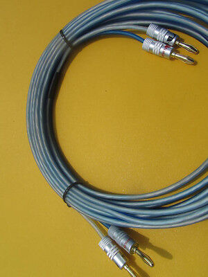 20 ft BULLZ AUDIO Cable 14 Gauge Speaker Wire 2 to 2 Banana Plugs,