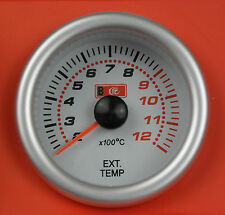 S2 Universal 52mm Exhaust Gas Temp / Temperature EGT Gauge includes sensor