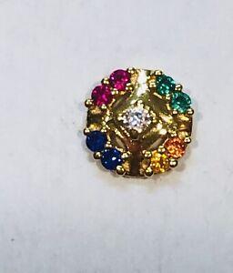BOHO-MULTI-CRYSTALS-22-kt-gold-nose-ring-pin-stud-ROUND-India-16-gauge-USA-31