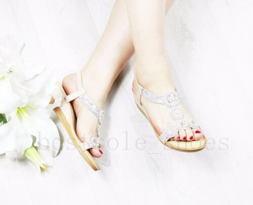 LADIES WOMENS DIAMANTE SANDALS ELASTIC STRAP SUMMER PEEP TOE WEDGES SHOES SIZE